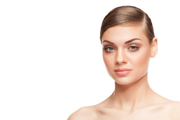 Woman with perfect skin and natural make up