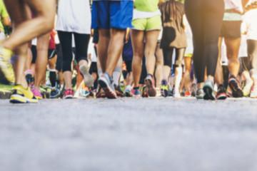 Marathon runners Crowd People Race Outdoor Sport event