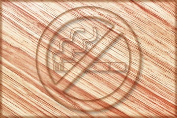 no smoking sign on wooden board