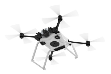 white drone isolated Wall mural