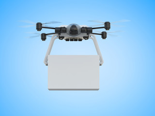 Wall Mural - delivery drone with box