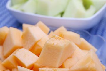 Stock Photo:.Close up cantaloupe melon background