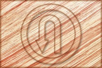 left u turn sign on wooden board