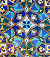 Moroccan mosaic tile, ceramic decoration
