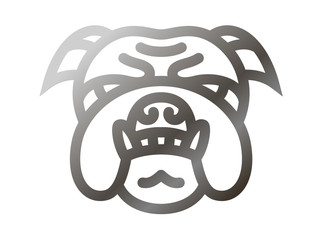 Bulldog icon - vector illustration