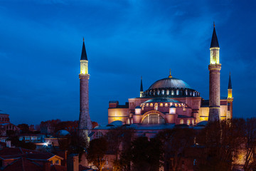 Famous Sophia cathedral Night View