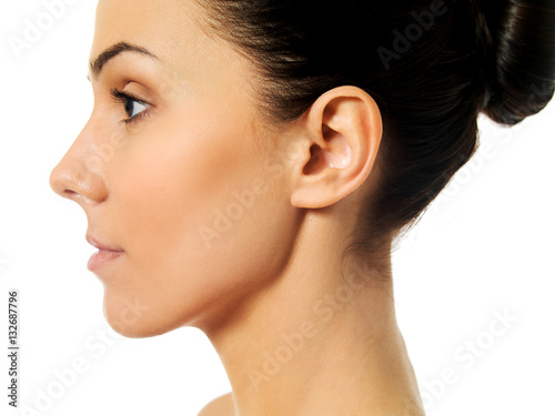 U0026quot Side View Of Young Woman Face U0026quot  Stock Photo And Royalty