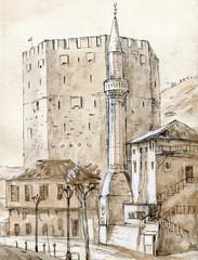 minaret and tower in Turkey
