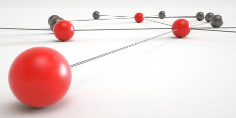 Concept of network - 3D Rendering