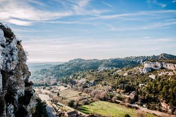 Panorama sur les Alpilles près des Baux de Provence