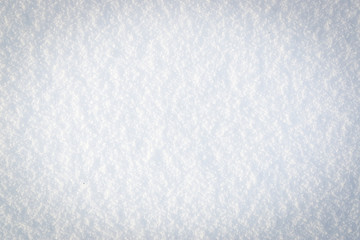 White snow surface