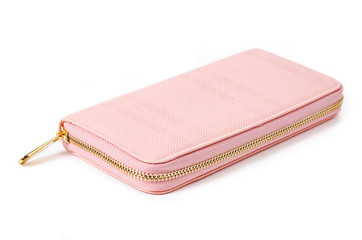 pink purse isolated