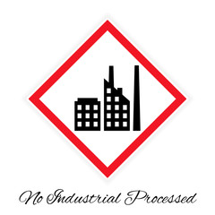 No industrial processed pictogram
