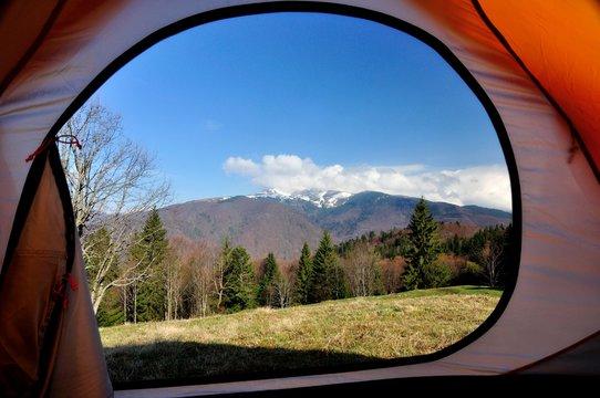 Вид с палатки