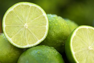 Sweet fresh lemon in natural light on old wood