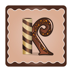 Letter k candies  chocolate
