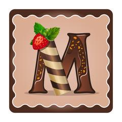 Letter m candies