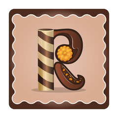 Letter r candies  chocolate