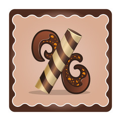 Letter x candies  chocolate