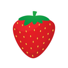 Strawberry vector isolated