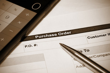 Purchasing order and calculator