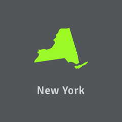 new york region icon of USA. with green color
