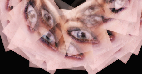 Computer generated image of surreal female eyes