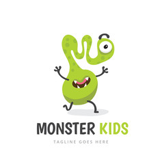 Cute Monster, Monster logo, Monster kids, monster vector set.
