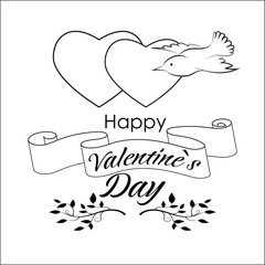 Valentin`s day greeting card