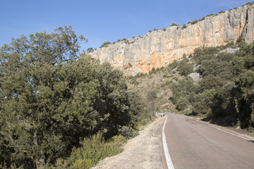 Road in Canyon Landscape; Nuevalos, Aragon