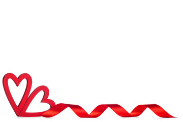 Red Valentine day hearts