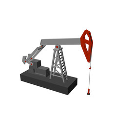 Oil pump jack.Isolated on white background. Vector illustration.