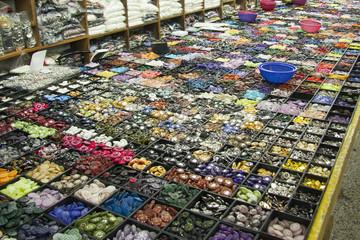 釜山鎮市場 ボタン売り場