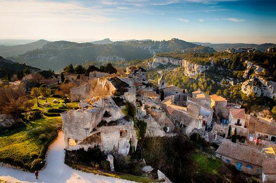 Vue du village depuis le château des Baux de Provence