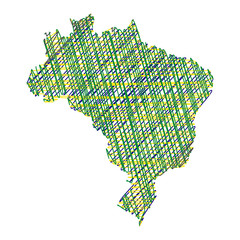 simple map of Brazil