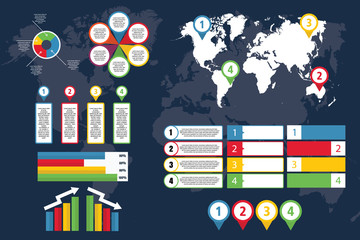 Infographic of World with map for business and presentation