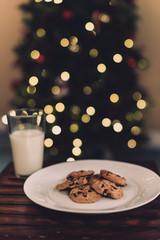Christmas cookies and milk for Santa