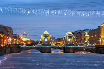 Petersburg with New Year and Christmas decorations, St Petersburg, Russia