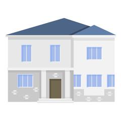 Retro Flat House Icons Design Interior vector