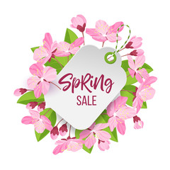 Spring sale tag.