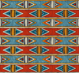Tribal seamless pattern. Colorful abstract vector background.