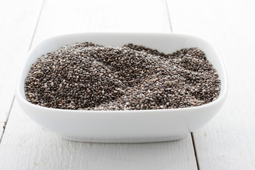 chia seeds in dish