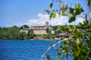 Blick auf Castillo de Jagua, Cienfuegos, Kuba