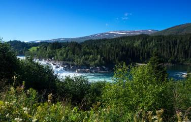 Wasserfall Laksforsen