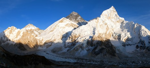 Mount Everest evening panoramic view