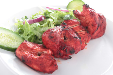 Indian Chicken Tikka Kebab Flame Grilled