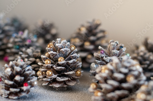 Christmas Decorations Diy Idea Cones With Colorful Beads And