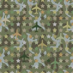 Seamless camouflage dark khaki pattern