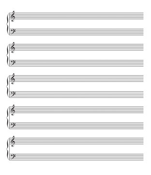 Vector piano sheet music