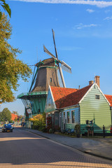 Big historic windmill in The Netherlands